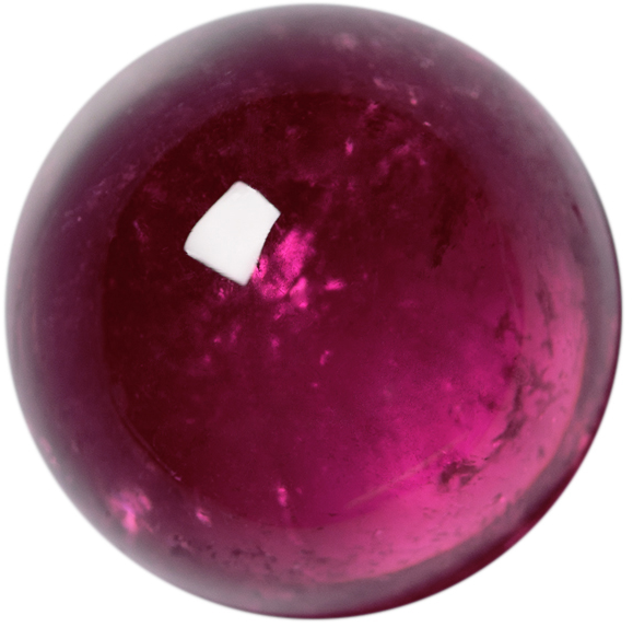 Natural Extra Fine Vivid Pink Tourmaline - Round Cabochon - Brazil - AAA+ Grade