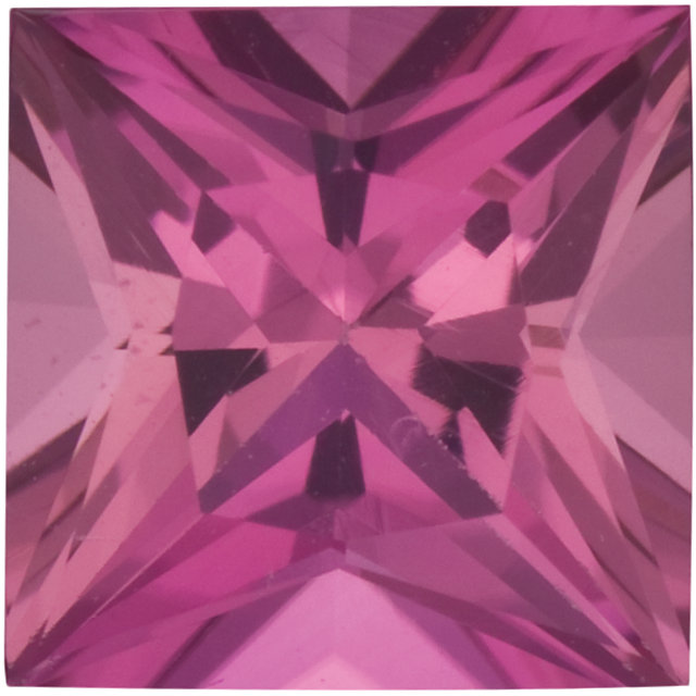 Natural Fine Rich Pink Tourmaline - Square Princess - Madagascar - Top Grade - NW Gems & Diamonds