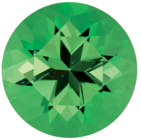 Natural Fine Medium Green Tsavorite - Round - East Africa - Top Grade - NW Gems & Diamonds