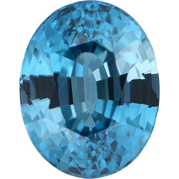Natural Fine Blue Zircon - Oval - Cambodia - Top Grade - NW Gems & Diamonds