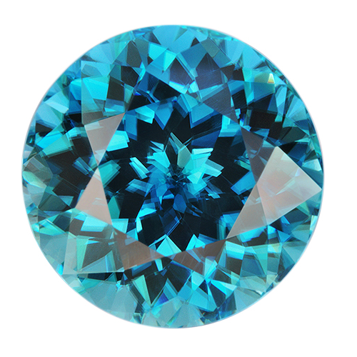 Natural Super Fine Intense Blue Zircon - Round - Cambodia - AAAA Grade