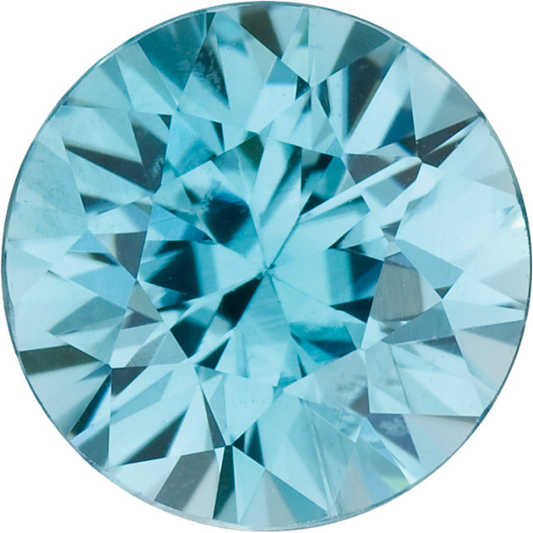 Natural Fine Sea Foam Blue Zircon - Round - Cambodia - Top Grade - NW Gems & Diamonds