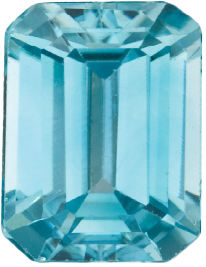 Natural Fine Sea Foam Blue Zircon - Emerald Cut - Cambodia - Top Grade - NW Gems & Diamonds
