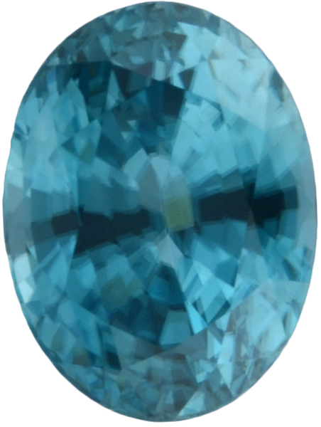 Natural Fine Sea Blue Zircon - Oval - Cambodia - Top Grade - NW Gems & Diamonds