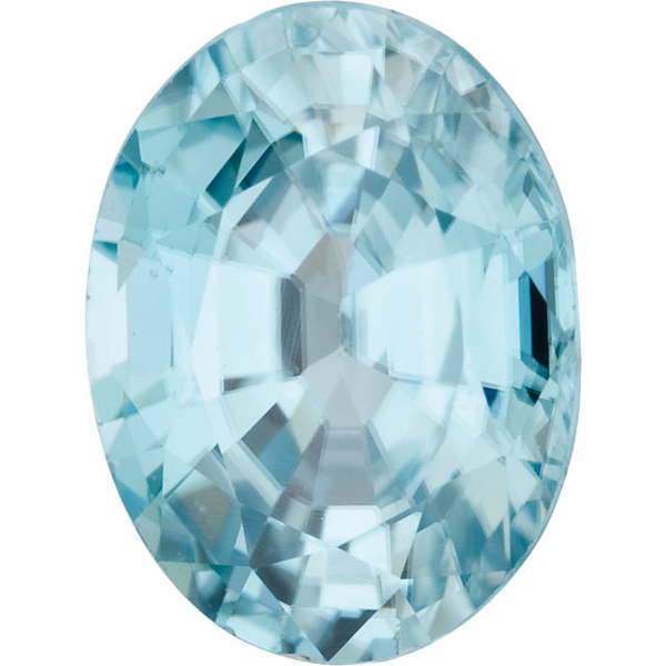 Natural Fine Sea Foam Blue Zircon - Oval - Cambodia - Top Grade - NW Gems & Diamonds