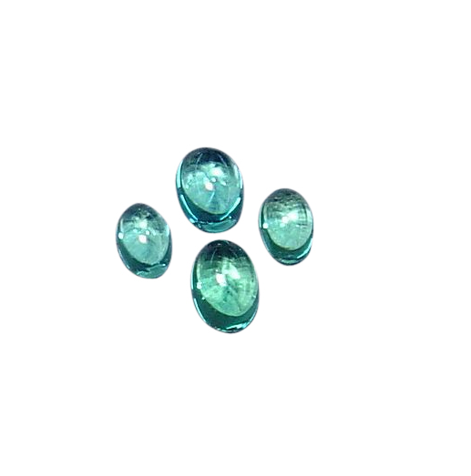 Natural Extra Fine Blue Apatite - Oval Cabochon - Brazil - AAA+ Grade