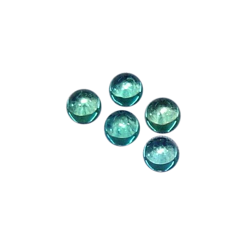 Natural Extra Fine Blue Apatite - Round Cabochon - Brazil - AAA+ Grade