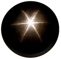 Natural Extra Fine Black Star Sapphire - Round Cabochon - AAA+ Grade - Unheated, Untreated - Thailand
