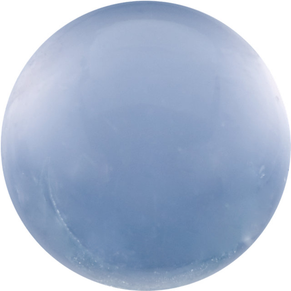 Natural Fine Blue Chalcedony - Round Cabochon - Namibia - AAA Grade