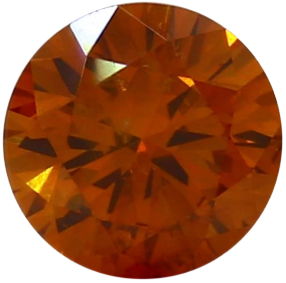 Natural Extra Fine Deep Vivid Orange Diamond - Round - VS2-SI1 - Africa - Extra Fine Grade