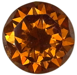 2.6mm Natural Rare Fine Fancy Orange Diamond - Round - Australia, Argyle Mine