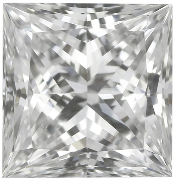 Natural Very Finest Diamond Melee - Square Princess - VVS2-VS1 - E-F - Precision Cut - Africa