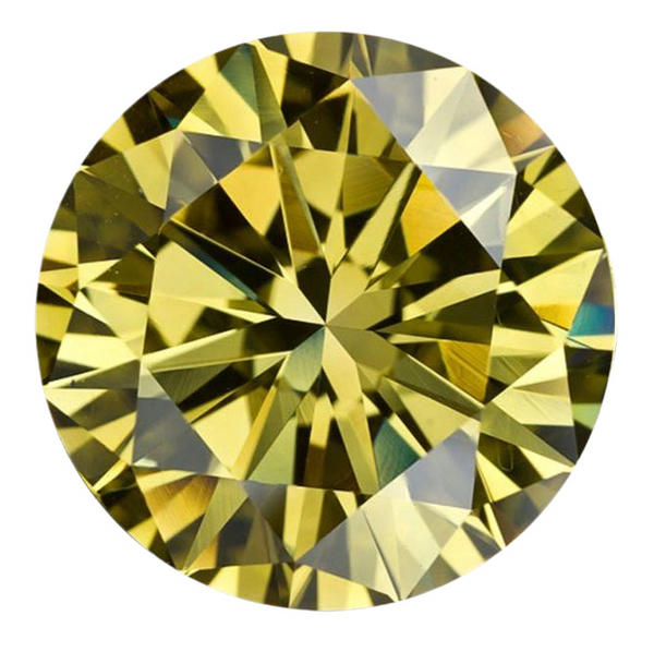 Natural Extra Fine Vivid Canary Yellow Diamond - Round - VS2-SI1 - Africa - Extra Fine Grade