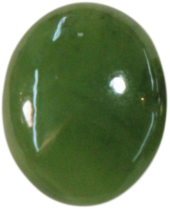 Natural Extra Fine Rich Green Nephrite Jade - Oval Cabochon - New Zealand - AAA+ Grade
