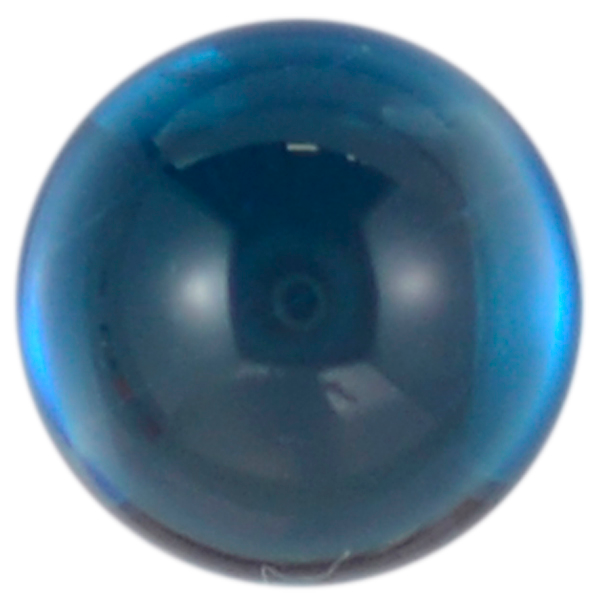 Natural Fine London Blue Topaz - Round Cabochon - Brazil - AAA Grade