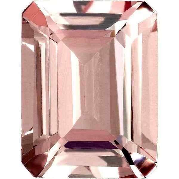 Natural Super Fine Morganite - Emerald Cut - Mozambique - AAAA Grade