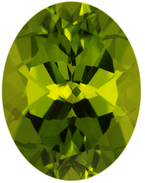 Natural Fine Rich Green Peridot - Oval - Arizona - AAA Grade