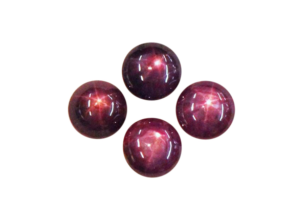 Natural Fine Rich Red Star Ruby - Round Cabochon - AAA Grade - Unheated, Untreated - Africa