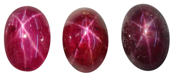 Natural Fine Rich Red Star Ruby - Oval Cabochon - AAA Grade - Unheated, Untreated - Africa