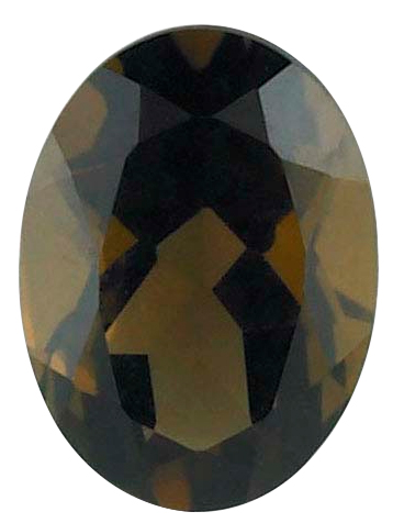 Natural Fine Smoky Quartz - Oval - Brazil - AAA Grade