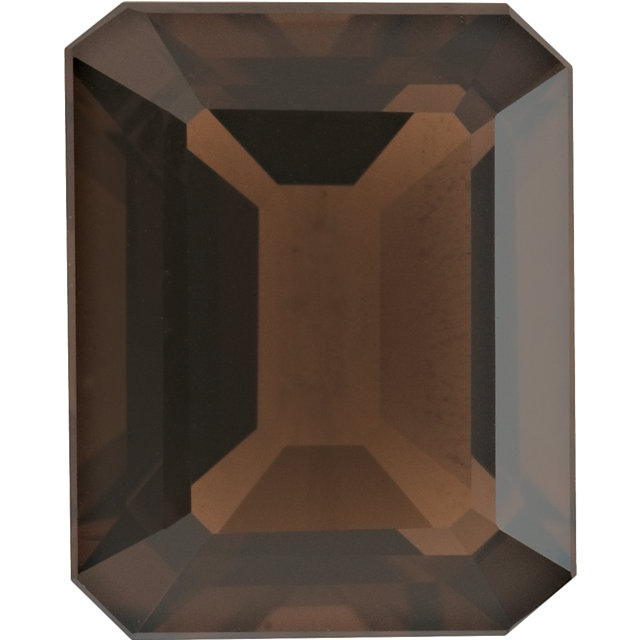 Natural Extra Fine Smoky Quartz - Emerald Cut - Brazil - AAA+ Grade