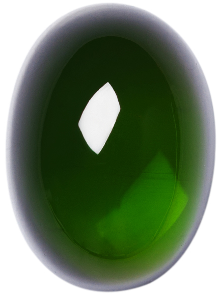 Natural Extra Fine Vivid Green Tourmaline - Oval Cabochon - Brazil - AAA+ Grade
