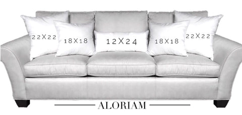 3 pillow grouping for 3 seat sofa