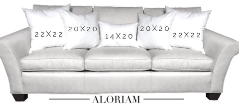 Pillow grouping for 3 seat sofa