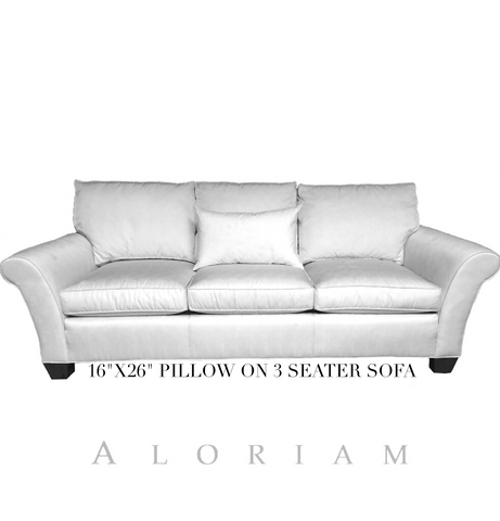 16x26 pillow on 3 seat sofa