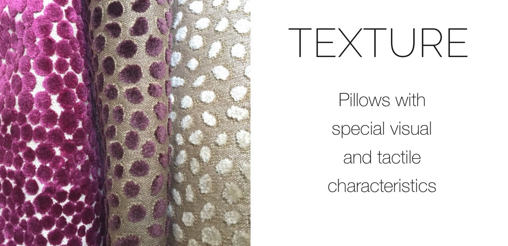 Texture Pillows by Aloriam: Pillows with special visual and tactile characteristics