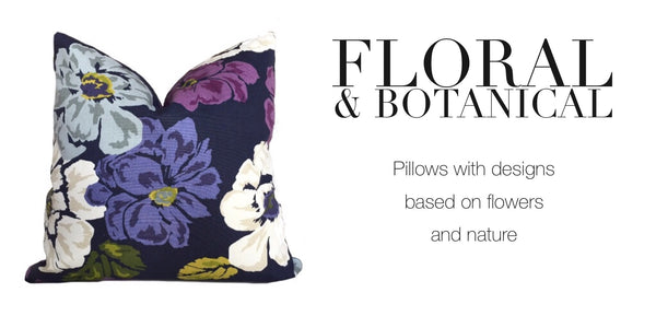Floral & Botanical Pattern Pillows by Aloriam