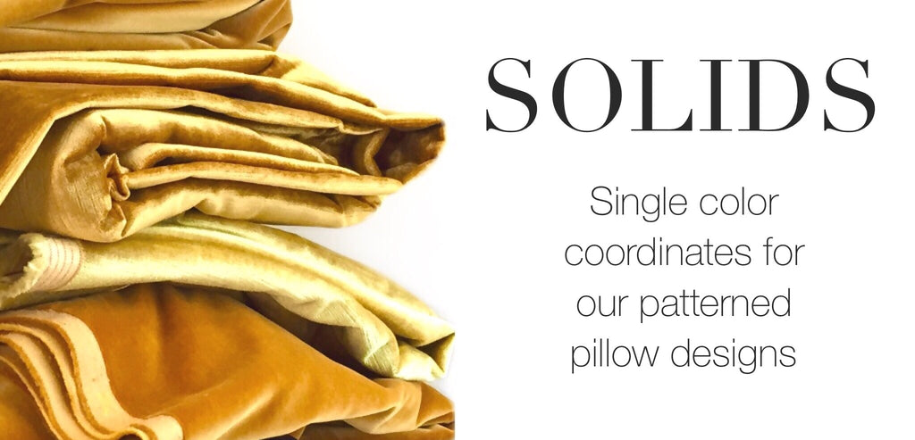 Solid Coordinating Pillows by Aloriam: Single color coordinates for our patterned pillow designs