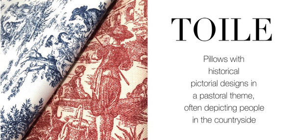 Toile Pillows by Aloriam