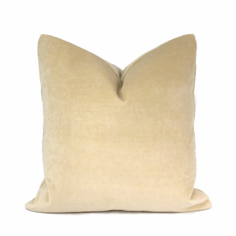 JB Martin Parchment Ivory Cotton Velvet Pillow Cover