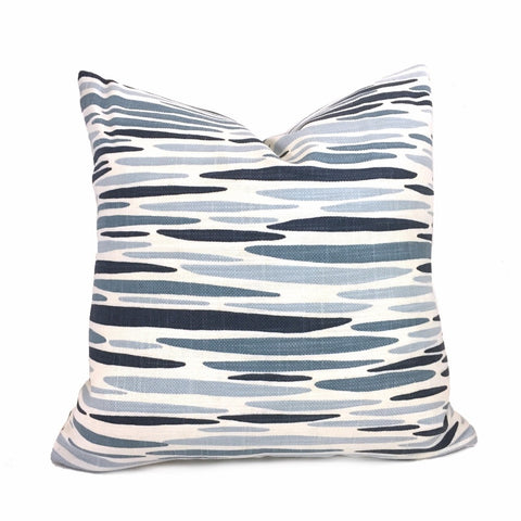 Lulu Dk Island Lapis Blue White Pillow Cover