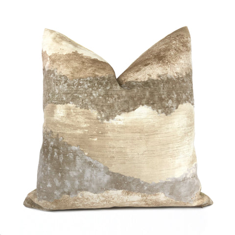 Travertine Natural Stone Digital Print Velvet Pillow Cover