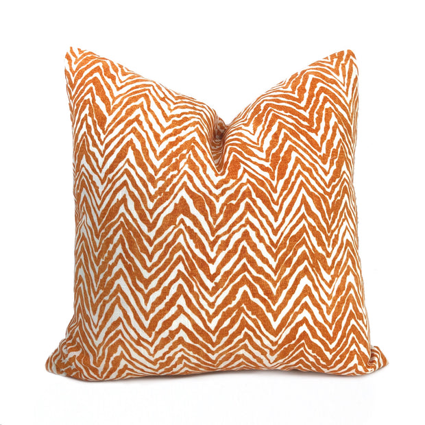 Tigra Orange White Animal Print Pillow Cover Lumbar Pillow 12x18 12x20 12x24 14x20 16x26