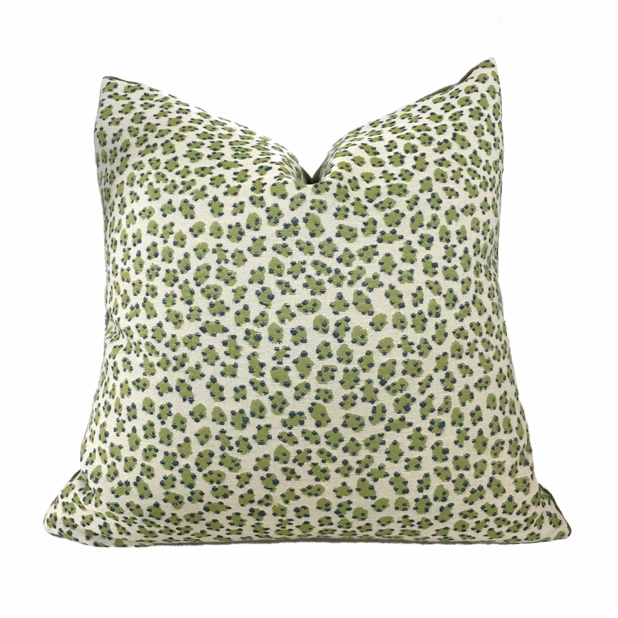 Tilton Fenwick Haute Cactus Green Leopard Cheetah Animal Spot Pillow Cover