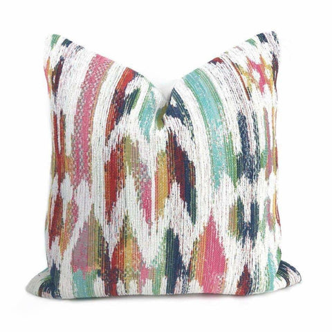 Acapulco Pink Aqua Multicolor Chenille Pillow Cover - Aloriam