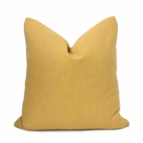 Amber Gold Linen Pillow Cover