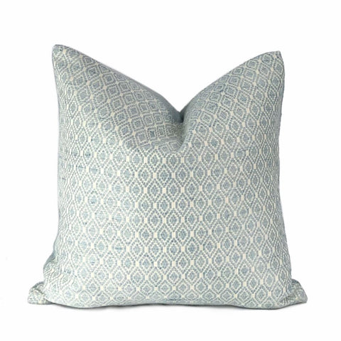 Averie Aquamarine Diamonds Geometric Pillow Cover - Aloriam