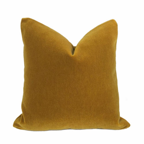 Beacon Hill Plush Mohair Gold Velvet Pillow Cover - Aloriam
