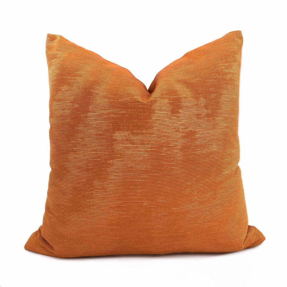 Beacon Hill Terracotta Orange Moire Pillow Cover Cushion Pillow Case Euro Sham 16x16 18x18 20x20 22x22 24x24 26x26 28x28 Lumbar Pillow 12x18 12x20 12x24 14x20 16x26 by Aloriam