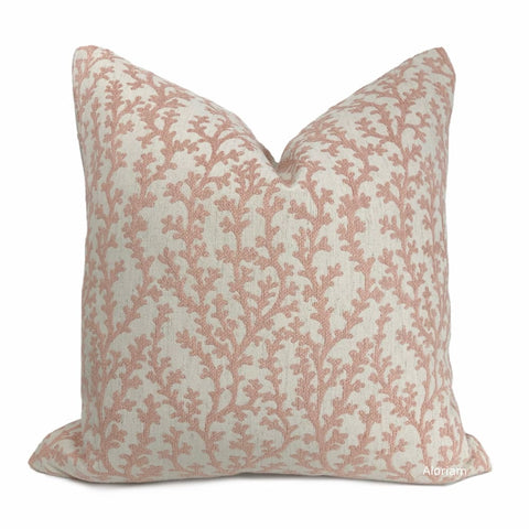 Beatrix Blush Pink Floral Vine Pillow Cover - Aloriam