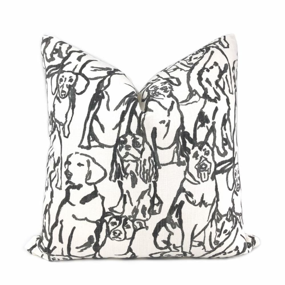 Best Friends Black White Dogs Print Pillow Cover Lacefield Designs Aloriam