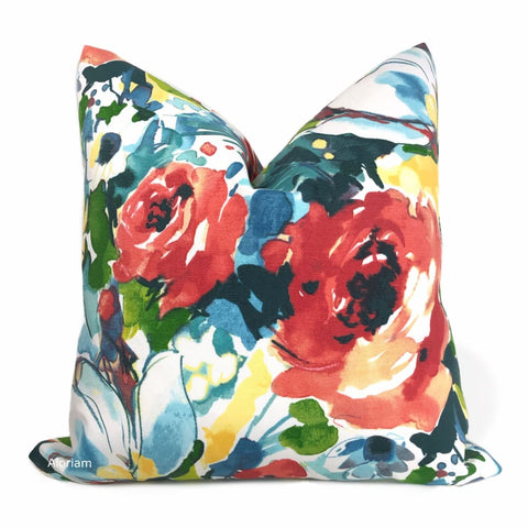 Braelyn Multicolor Floral Indoor Outdoor Pillow Cover - Aloriam