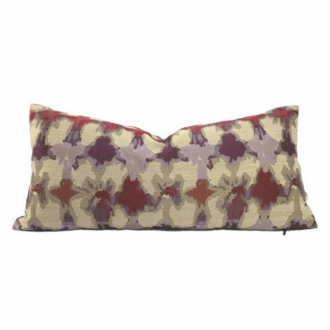 Brentano Colortura Purple Burgundy Beige Abstract Pillow Cover by Aloriam