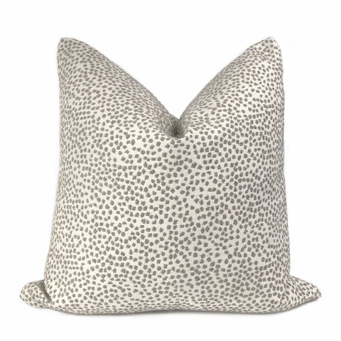 Brimley Taupe Textured Small Dots Chenille Pillow Cover - Aloriam