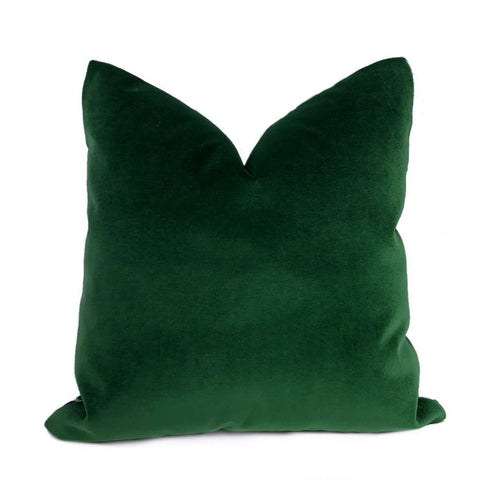Brixton Green Pine Cotton Velvet Pillow Cover Cushion Pillow Case Euro Sham 16x16 18x18 20x20 22x22 24x24 26x26 28x28 Lumbar Pillow 12x18 12x20 12x24 14x20 16x26 by Aloriam