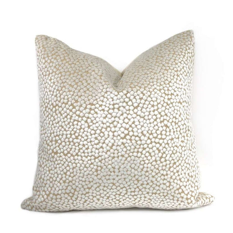 Catelyn White Velvet Dots Pillow Cover Cushion Pillow Case Euro Sham 16x16 18x18 20x20 22x22 24x24 26x26 28x28 Lumbar Pillow 12x18 12x20 12x24 14x20 16x26 by Aloriam